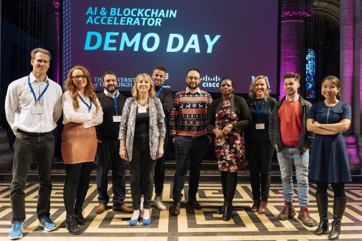 photo of people at AI & blockchain accelerator day